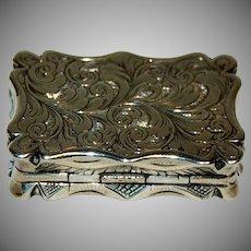 Dated 1844 -1845 English Silver Vinaigrette