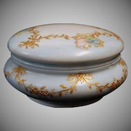 1890's Hand Painted Limoges France Powder Box / Jar