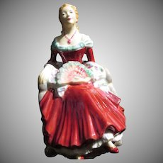 "Early English Coalport Lady Figurine ""Barbara"""