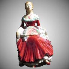 "Early English Coalport Lady Figurine ""Barbara"""