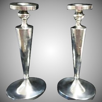 """1920's Sterling Silver 11 3/4""""  Tall Elegant & Wonderful Candlesticks """" NOT WEIGHTED """""""