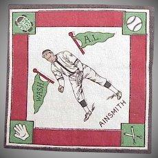 "1914 "" Eddie Ainsmith "" Baseball Player Felt"