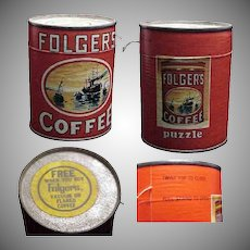 Scarce Folgers Coffee Advertising Puzzle