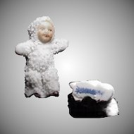 Antique 1900's Snow Baby, signed Germany