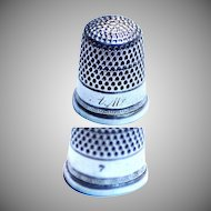 Silver Thimble Marked Size 7