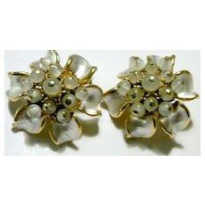 Enamel & Glass Bead FLORENZA Earrings