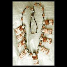Vintage  Storyteller Children Necklace - Hand-made - Jemez Pueblo