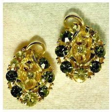 Lovely LISNER Rhinestone Earrings
