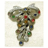 Small CZECH Art Deco Dress Clip