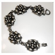 HOBE' Rare Sterling Bracelet from the 1940s