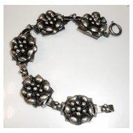 HOBE' Rare Sterling Bracelet from the 1940s
