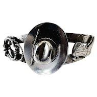 Vintage Sterling Silver Southwestern 'Cowgirl' Cuff Bracelet