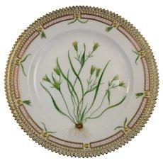 Rare Pre-1900 Flora Danica 7 3/4'' Dessert or Salad Plate by Royal Copenhagen - Gagea minima. Schult.