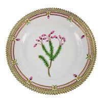 Rare Pre-1900 Flora Danica Dessert Plate 7 3/4''/ #3573 by Royal Copenhagen - Phyllodoce coerulea - Grenf Godr.