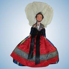 "Gorgeous French Cherbourg Region 'International Travel' 13"" Doll"