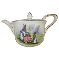 Beatrix Potter Peter Rabbit Children's Tea Pot - c 1920