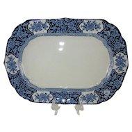"Medium 12"" Oval/Rectangular Platter Serving Dish - 'Khotan' Wood & Sons c 1907"