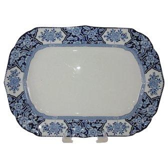 """Large 16"""" Oval Platter -'Khotan' Wood & Sons - c 1907"""
