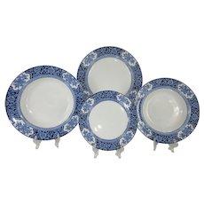 Full 48 Pc Set Antique English Tableware Setting for 12 - Khotan c.1907