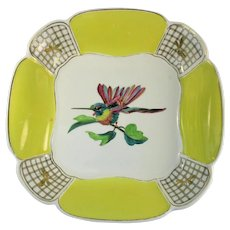 Unusual Wedgwood Hand Painted Bowl with Hummingbird to the Center – c 1923