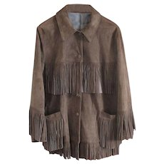 Exceptional Quality Soft Suede Jacket  - US 18