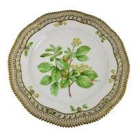 Rare c-1900 Flora Danica Reticulated 9'' Luncheon Plate by Royal Copenhagen - Berberis vulgaris.L