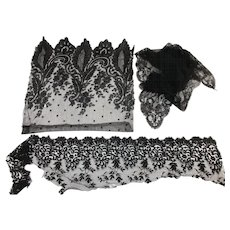Three Remnants of Old Black Lace