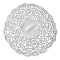 Irish Hand Made Lace Doily c 1880 - Perfect for Special Doll's Collar