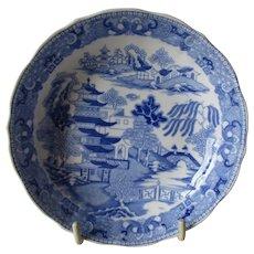 Rare Miles Mason Saucer Dish 'Broseley Willow' Pattern c 1807