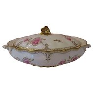 "Magnificent 13"" Royal Crown Derby Covered Serving Dish -  'Royal Pinxton Roses'"