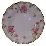 "8 Royal Crown Derby 8 1/2"" Dessert/Salad Plates - 'Royal Pinxton Roses'"
