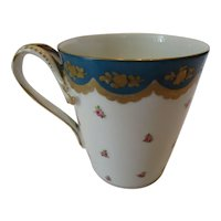 Antique Minton Hand Painted Porcelain Cup ~ c. Early 19th C
