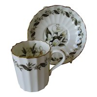 Vintage Royal Worcester Demitasse Cup and Saucer - Engadine Pattern