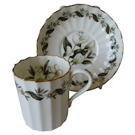 Vintage Royal Worcester Demitasse Cup and Saucer - Engadine Pattern