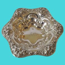 Antique Sterling Repousse Candy/Pin Dish - c 1910