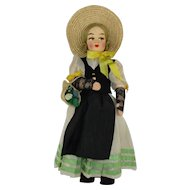 "Vintage Swiss 13"" International Doll in Regional Costume"