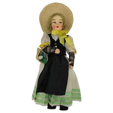 "Vintage Swiss 13"" International Doll in Regional Costume"