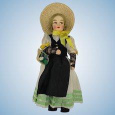 "Vintage Swiss 13"" International Travel Doll in Regional Costume"