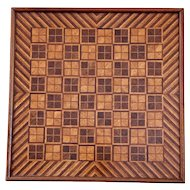 Outstanding Antique 19th Century Inlaid Parquetry Checker board/Game board.