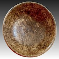 Fantastic Small 19th Century Turned Ash Burl Bowl in Mint Condition!