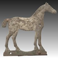 """Antique Cast Iron """"Bobtail"""" Horse Windmill Weight by Dempster in Great Original Surface."""