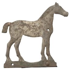 "Antique Cast Iron ""Bobtail"" Horse Windmill Weight by Dempster in Great Original Surface."