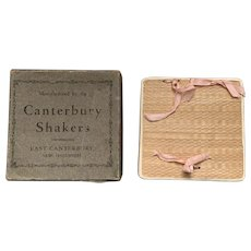 Antique Canterbury, N.H. Shaker Poplarware Box with Original Cardboard Box Cover.