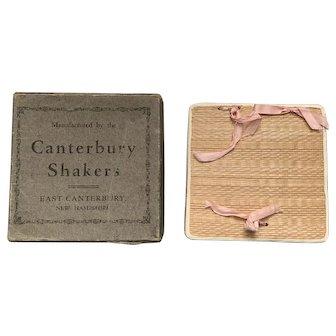 Antique Canterbury, N.H. Shaker Poplarware Box with Original Cardboard Box Cover.