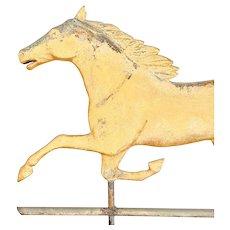 "Antique 19th C. Molded Copper ""Smuggler"" Horse Weathervane."