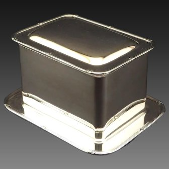 A Fine Early 20th Century Silver Plated Biscuit Box by Mappin & Webb, Circa 1900