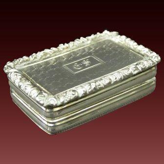 A Fine William IV Sterling Silver Vinaigrette by Joseph Willmore, Birmingham 1835
