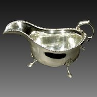 An Early 20th Century British Sterling Silver Gravy Boat, Birmingham Circa 1930