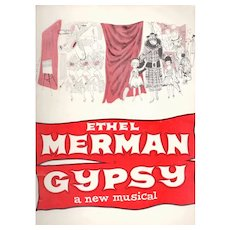 Gypsy Broadway Musical Theater Program Ethel Merman
