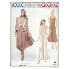 Gianni Versace 4 Piece Jacket, Camisole, Skirt and Cummerbund Sewing Pattern